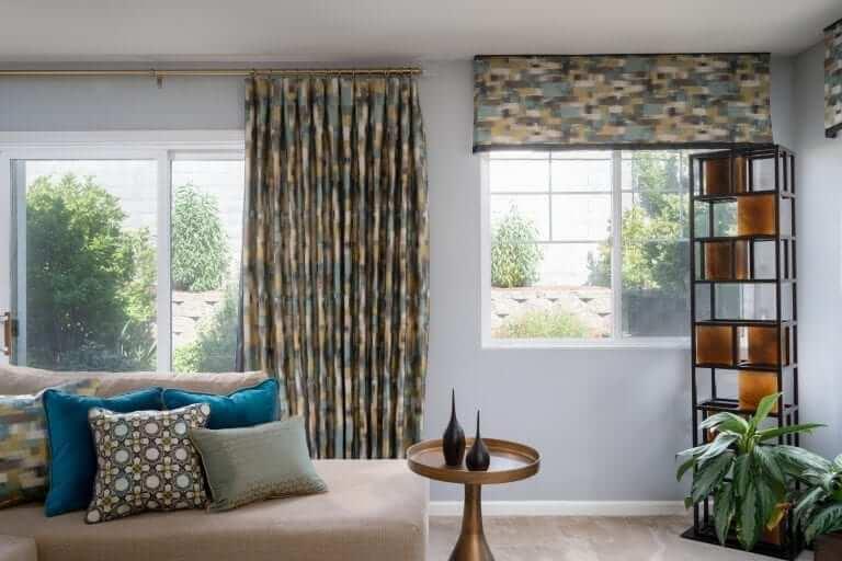 geometric window treatment fabric
