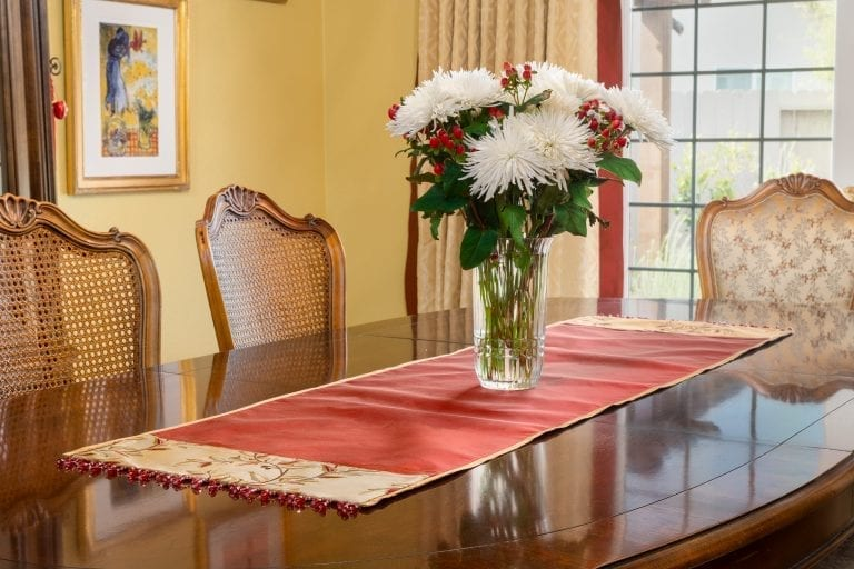 Custom Accessories Table Runner Right at Home Interiors