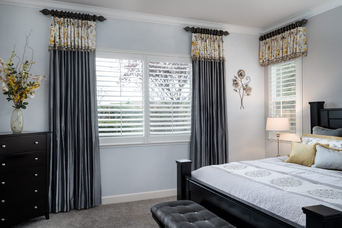 Finished master bedroom redesign with Vern Yip Fabrics
