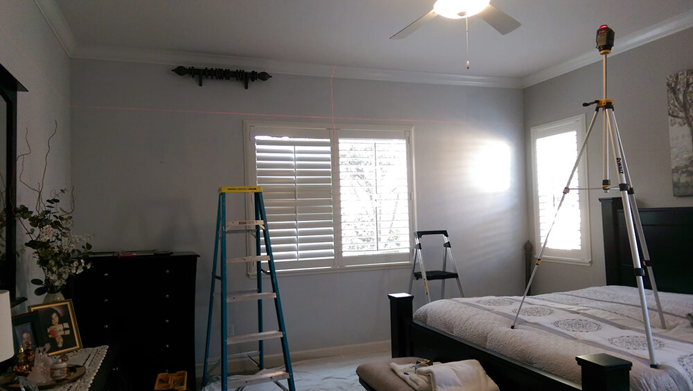 Master bedroom redesign installation