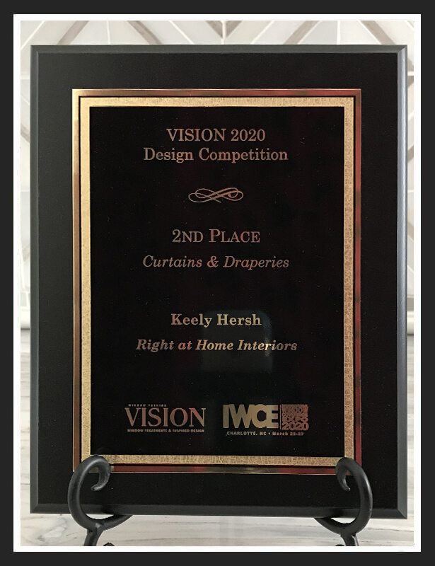 2nd place Curtains & Draperies Vision Design 2020
