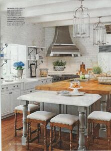 Original inspiration for farmhouse kitchen from better homes & gardens