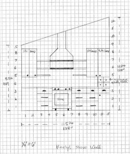 range hood and stove design plan