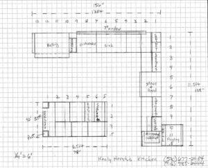 Keely's floor plan for custom kitchen renovation