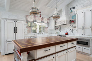 Completed farmhouse kitchen renovation