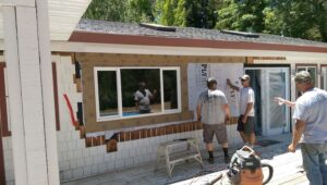 Redoing siding after window construction