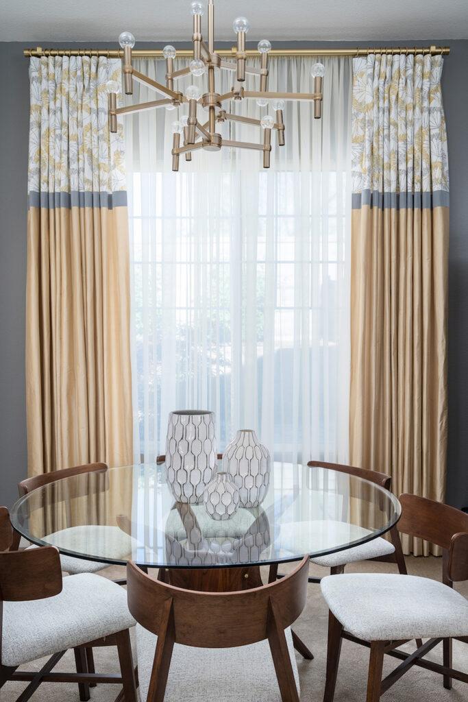 custom window treatments interior design