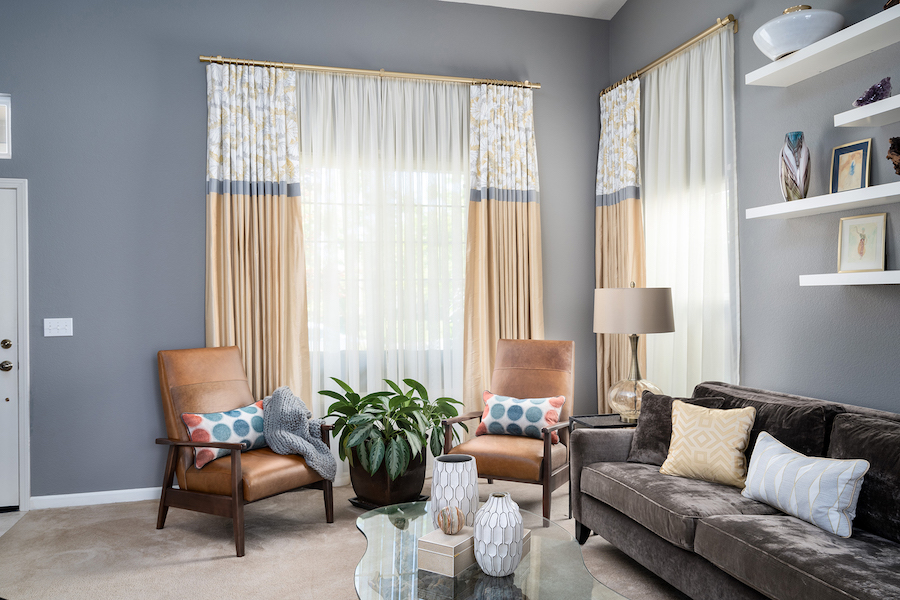 contemporary curtains & draperies
